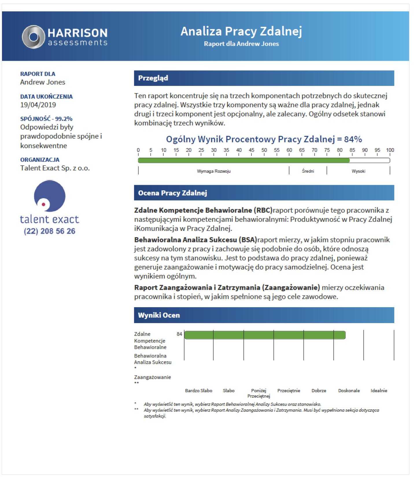 Kompetencje pracy zdalnej - Harrison Analytics
